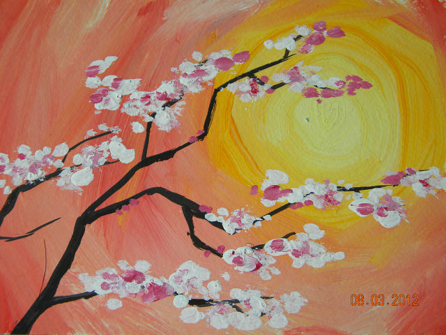 Левополушарное рисование весна мастер-класс
